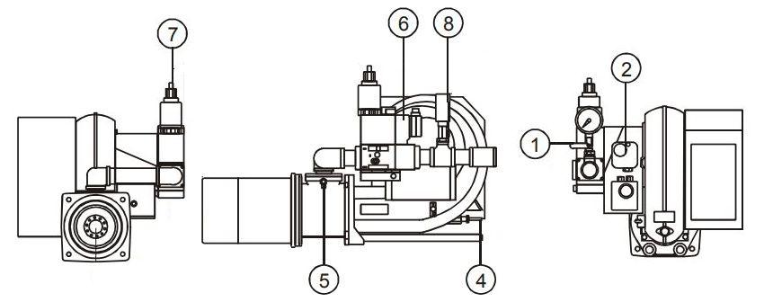 Устройство газовой горелки Kiturami TGB-200R