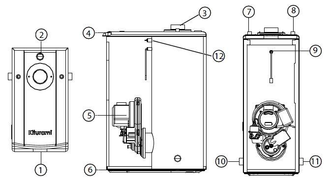 Устройство дизельного котла Kiturami Turbo HI FIN 13