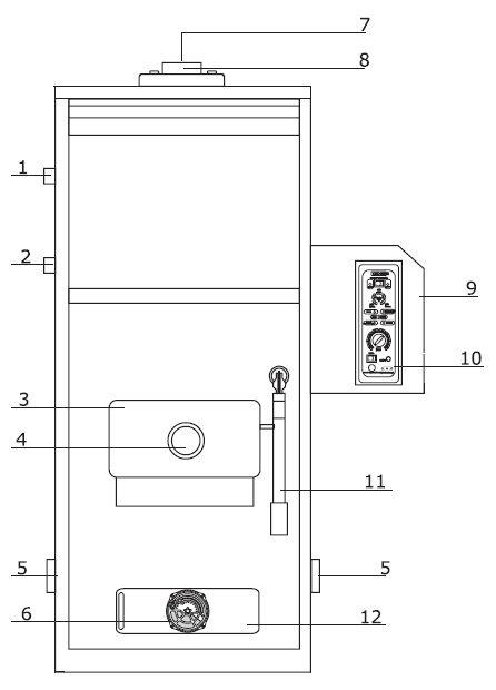 Конструкция комбинированного котла Kiturami KRM-70R