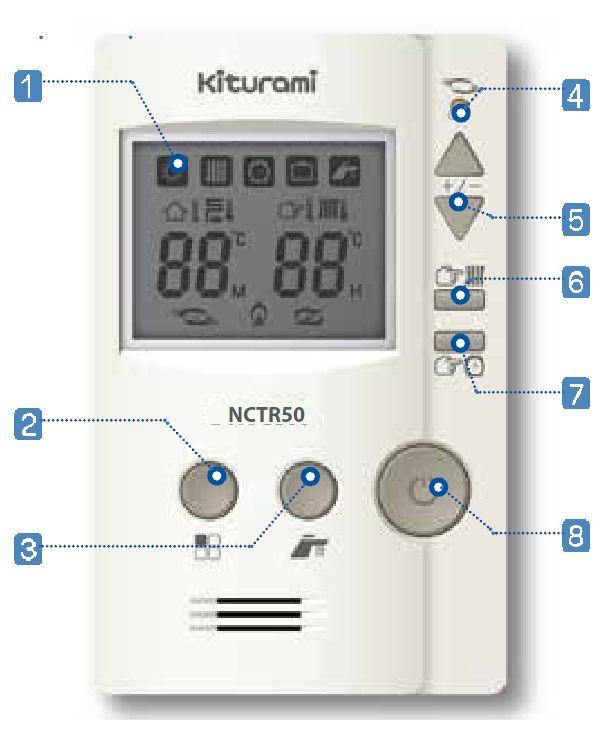 Пульт управления Kiturami NCTR50 со встроенным комнатным термостатом