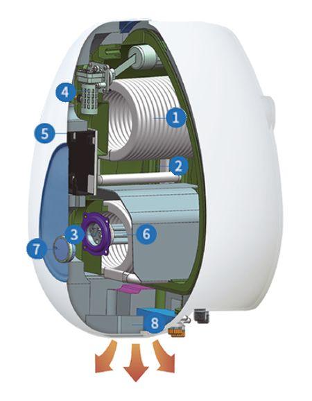 Структура котла Kiturami KCEW-20