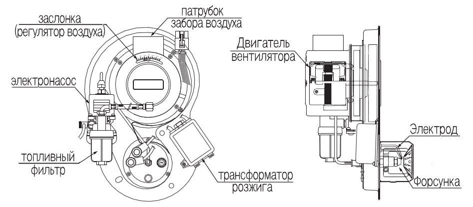 Структура горелки котла Navien LFA-40K