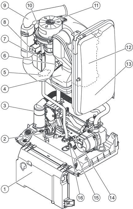 Функциональная схема котла Protherm Рысь K30 MKO