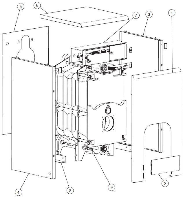 Элементы обшивки котла Protherm Бизон 50 NL