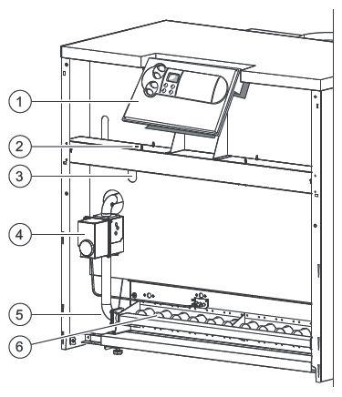 Функциональные элементы котла Vaillant atmoCRAFT VK INT 854/9 (вид спереди)
