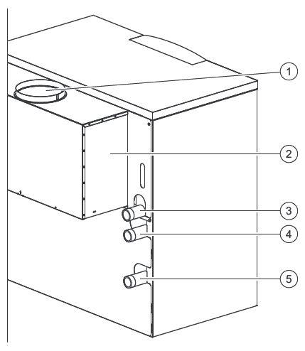Функциональные элементы котла Vaillant atmoCRAFT VK INT 854/9 (вид сзади)