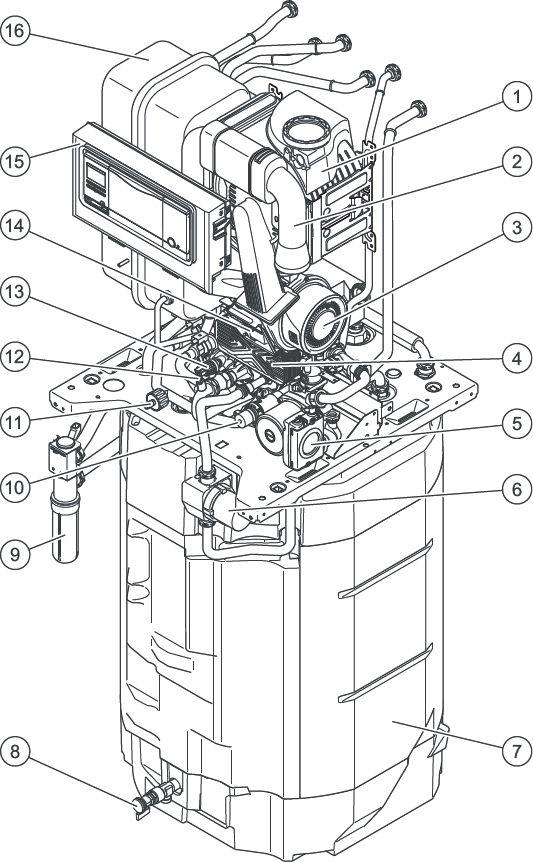 Конструкция котла Vaillant ecoCOMPACT VSC 266/4-5 150