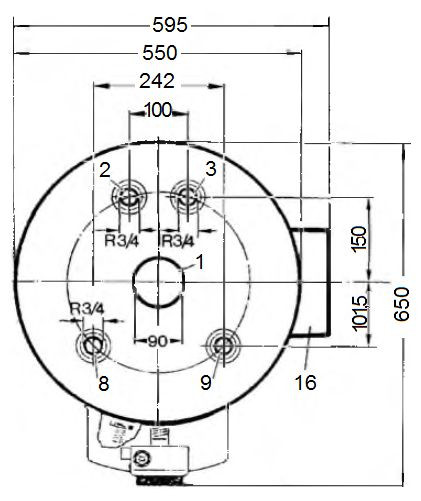 Подключение к водопроводу водонагревателя Vaillant atmoSTOR VGH 130/5 XZU