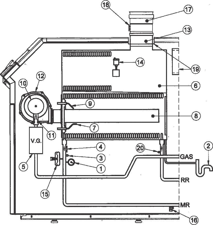 Функциональная схема котла Baxi POWER HT 1.850
