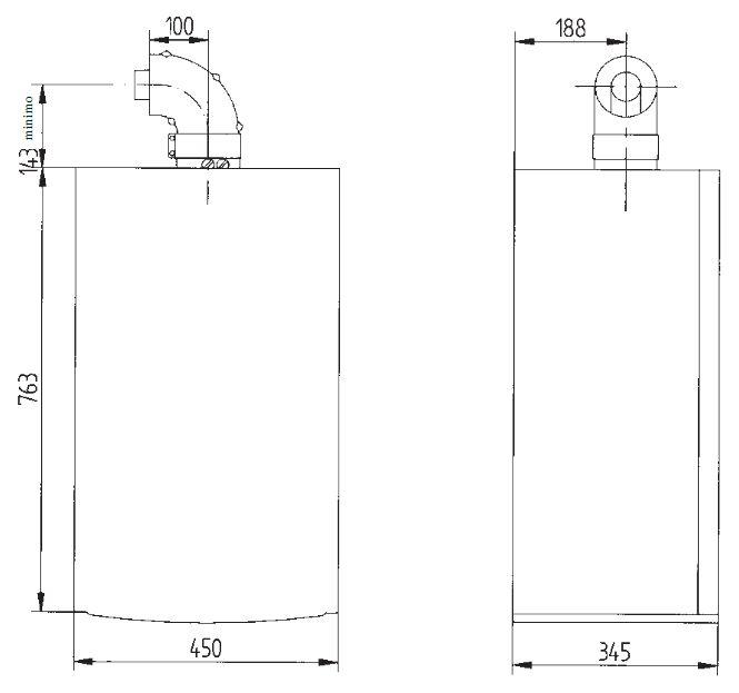 Габариты газового котла Baxi LUNA-3 Comfort 240 Fi