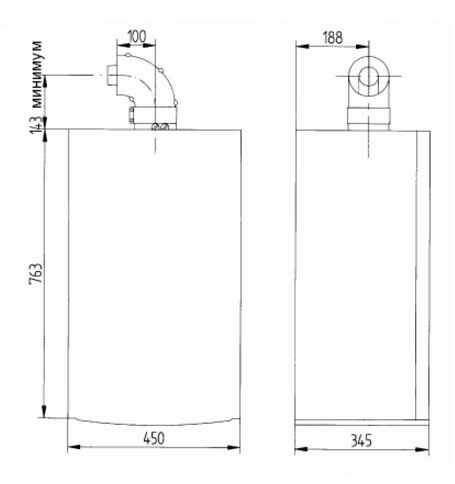 Габариты газового котла Baxi LUNA-3 310 Fi