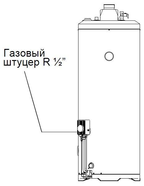 Подключение газа к водонагревателю Baxi SAG-3 115 T