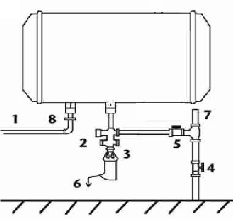 Установка водонагревателя Baxi EVN O 510 под давлением