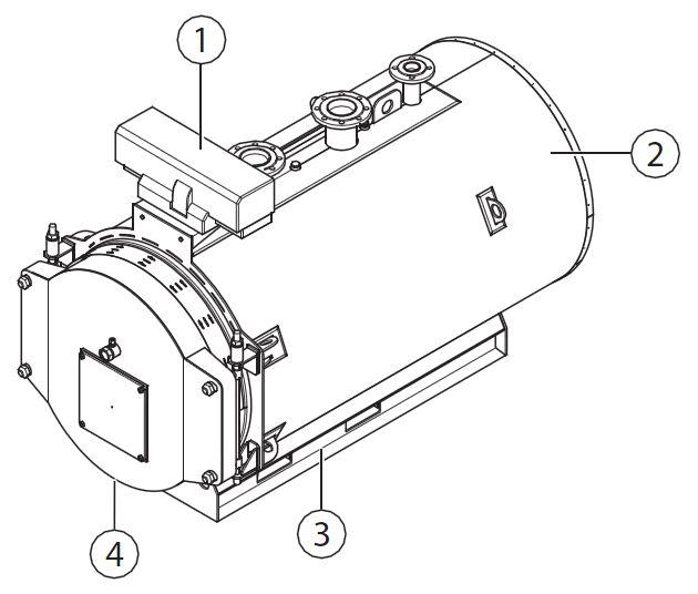 Основные составные части котла Buderus Logano SK655-190