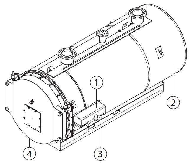 Основные составные части котла Buderus Logano SK755-1400