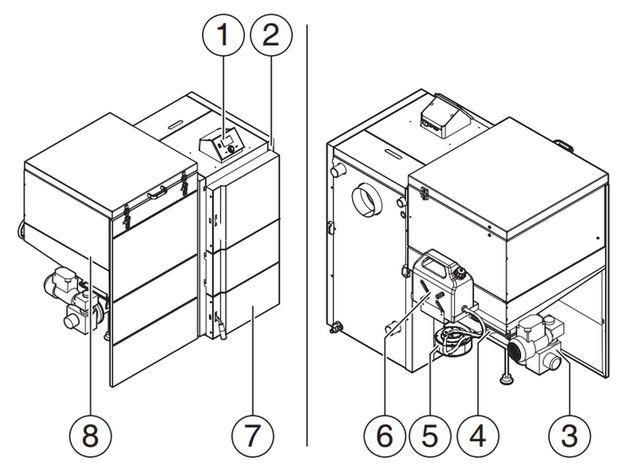 Конструкция котла Buderus Logano S181-20 E (общий вид)