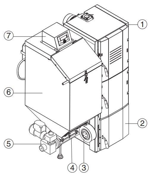 Конструкция котла Buderus Logano G221 А 30