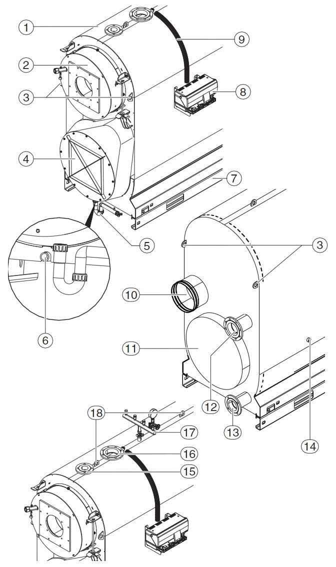 Структура конденсационного котла Buderus Logano plus SB745-800