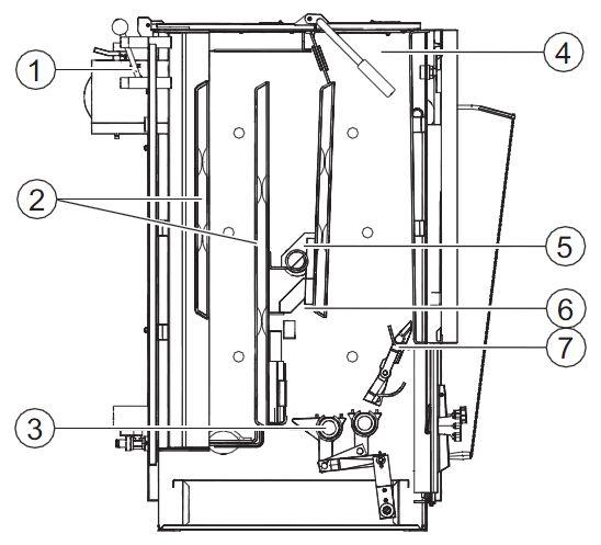 Конструкция котла Buderus Logano S111-32D (в разрезе)